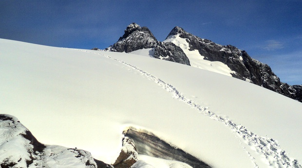 Margherita Peak at the summit of the Rwenzori Mountains on Mt Baker Uganda