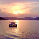Sunset Cruise on Lake Mutanda Kigezi Highlands Uganda