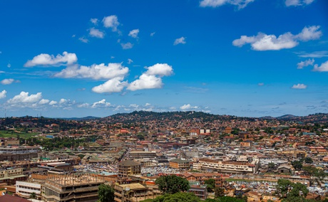 View of Kampala from Uganda National Mosque