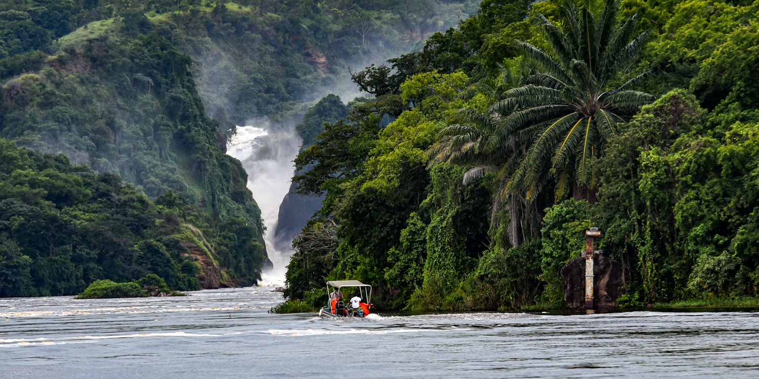 Nile Falls Cruise at Murchison Falls National Park Uganda