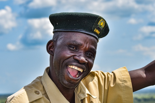 A portrait of Faustin, one the Uganda Wildlife Authority's friendly and enthusiastic guides!